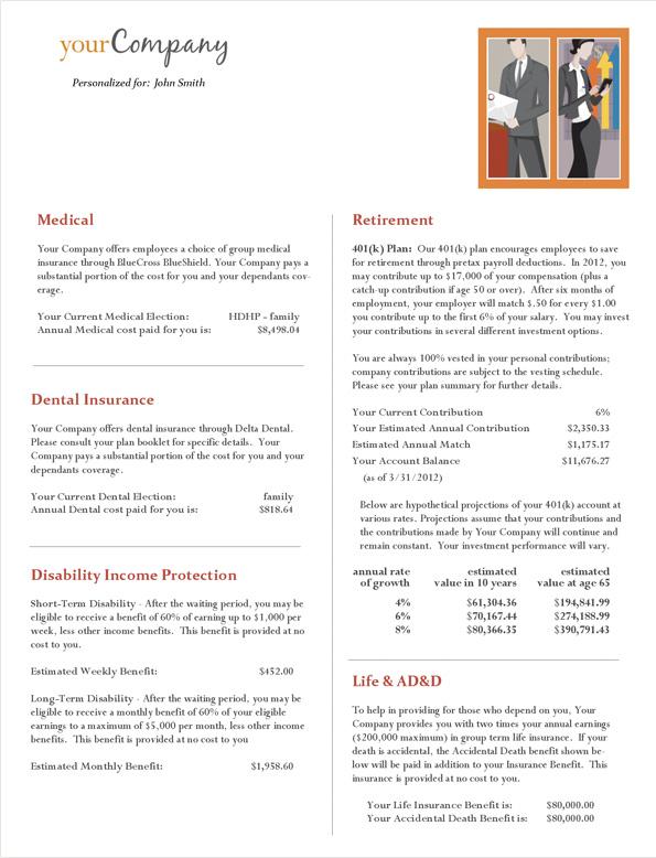 sample total rewards statements